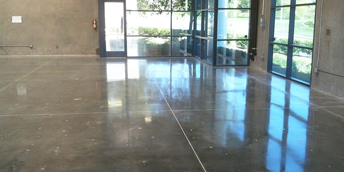 Polished Concrete Floors with Windows Reflected