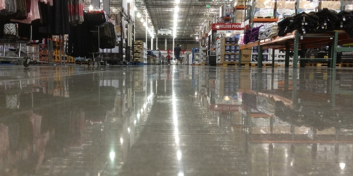 Concrete Polished Floor at Costco